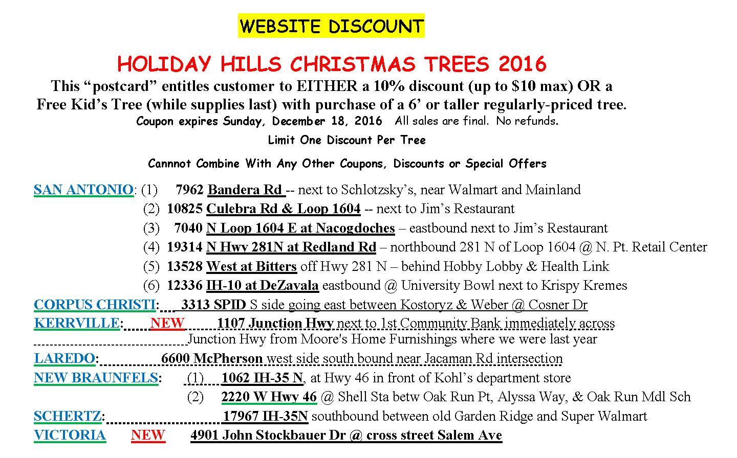 discounts south texas christmas trees holiday hills christmas reserve a tree