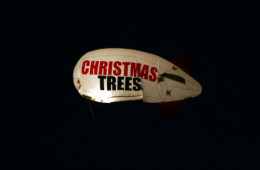 Night view:  You'll see this blimp flying over our Lot 6 at Bitters and West all nice days and clear nights!!