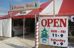 Open every day from just before Thanksgiving until we sell out.